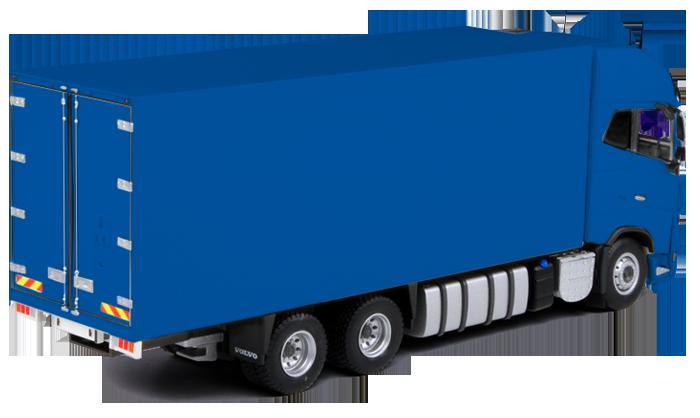 Vrachtauto beletteren